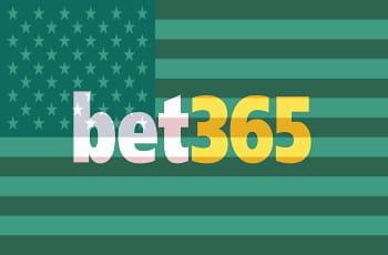 Das Logo des britischen Sportwettbetreibers Bet364 vor dem Schleier einer US-Flagge