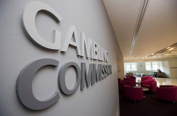 Der Eingangs-Schriftzug der UK-Gambling Commission.