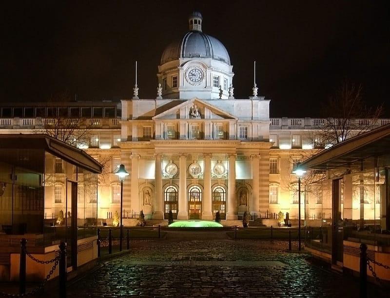 Das Parlamentsgebäude in Dublin, Irland.