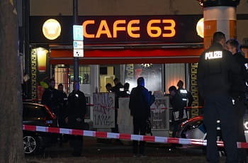 Ein BZ-Tatortfoto zeigt das Cafe 63 in Berlin.