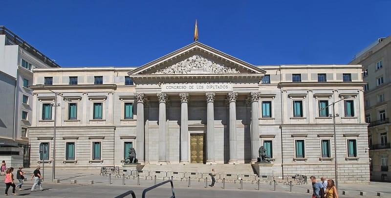 Das spanische Parlamentsgebäude.