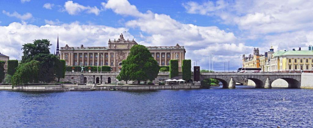 Zu sehen ist das schwedische Abgeordnetenhaus der Riksdag in Stockholm.