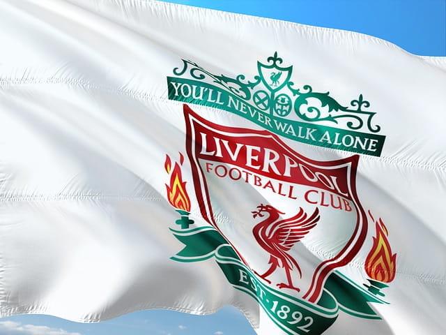 Die Flagge des FC Liverpool.