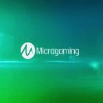 Das Logo des Herstellers Microgaming.
