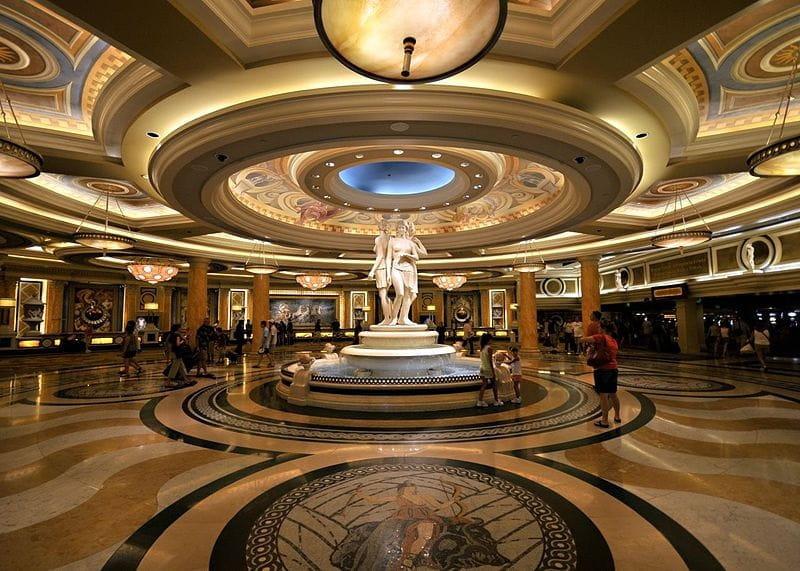 Die Lobby des Caesars Palace in Las Vegas.