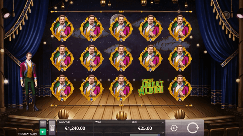 Der neue Microgaming-Slot The Great Albini.