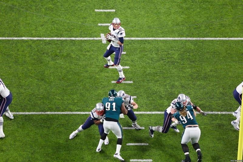 Ein Super Bowl-Spiel der NFL.