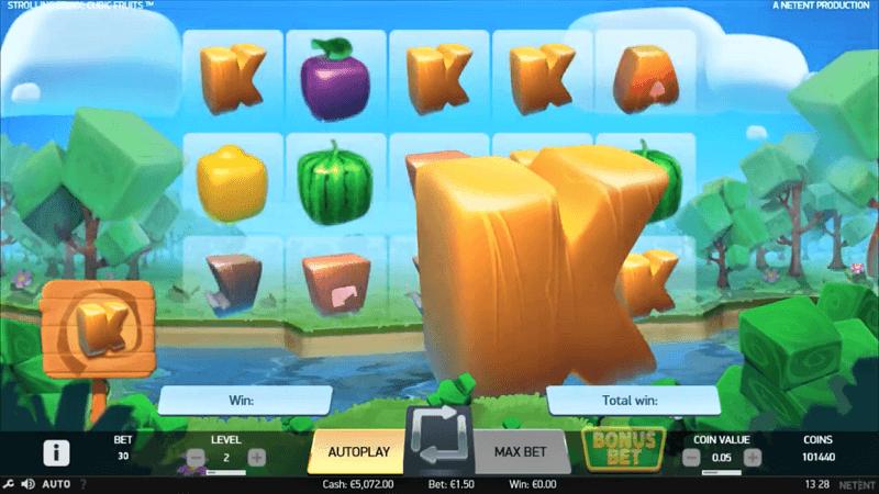 Der neue NetEnt-Slot Strolling Staxx: Cubic Fruits.