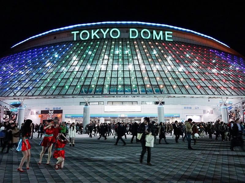 Das Baseballstadion Tokyo Dome in der japanischen Hauptstadt.