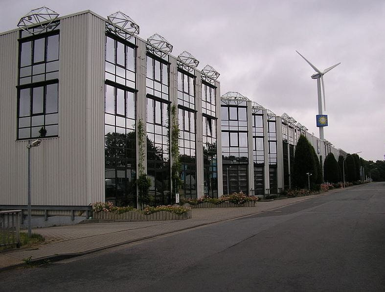 Eine Außenansicht des Gauselmann-Firmensitzes in Lübbecke.