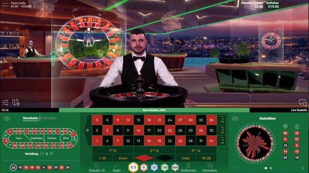 Ein Live Roulette Beyond Live Spieltisch von NetEnt im Live Casino von Mr Hill, das mit dem begehrten IGA Award für das beste Live Casino 2019 ausgezeichnet wurde.