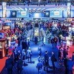 Ein Einblick auf die Glücksspiel-Branchenmesse ICE Totally Gaming in London.
