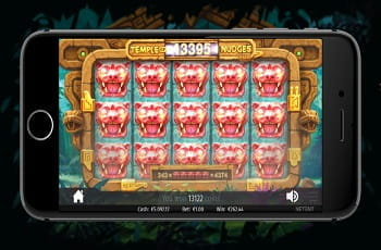 Der neue NetEnt-Slot Temple of Nudges.