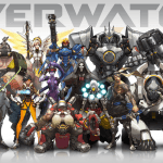 Ein Gruppenbild der Charaktere des Computerspiels Overwatch.