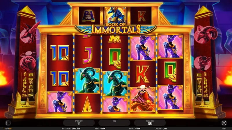 Der neue iSoftBet-Slot Book of Immortals.