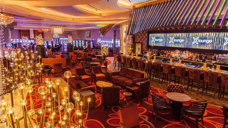 Eine Lounge des Parx Casinos in Philadelphia.