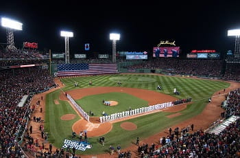 Der Fenway Park des US-Baseballklubs Boston Red Sox.
