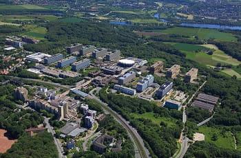 Die Ruhr-Universität Bochum aus der Luft.