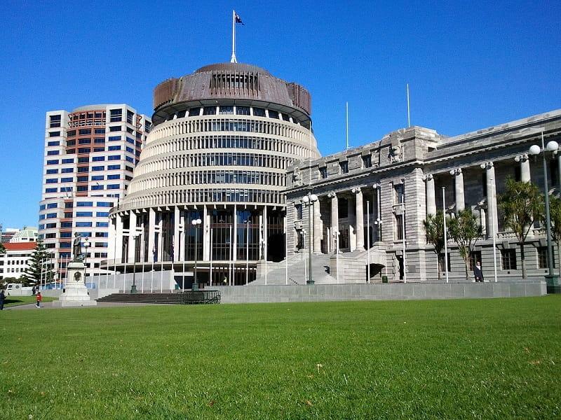Das Parlamentsgebäude in Wellington, Neuseeland.