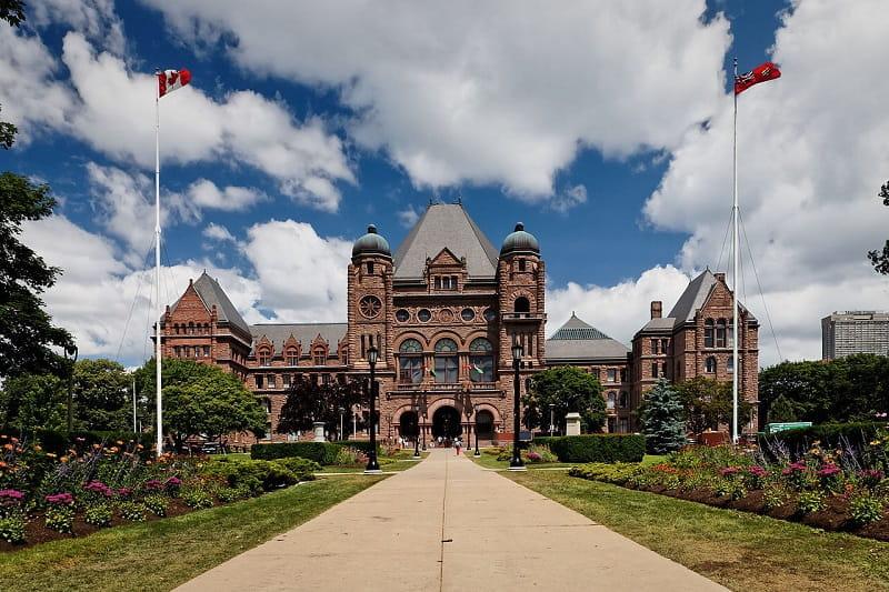 Das Parlamentsgebäude in Ontario, Kanada.