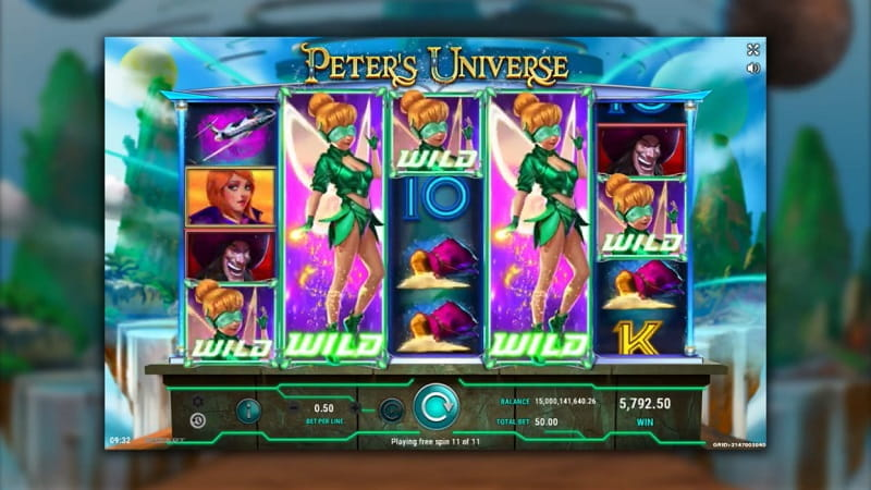 Der neue GameArt-Slot, Peters Universe.