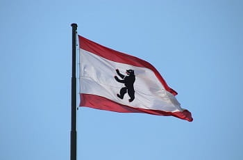 Die Flagge von Berlin.