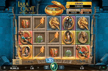 Der neue MG-Slot, Lara Croft: Temples and Tombs.