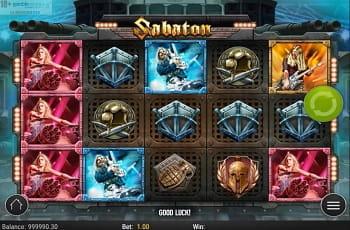 Der neue Play'n GO-Slot Sabaton.
