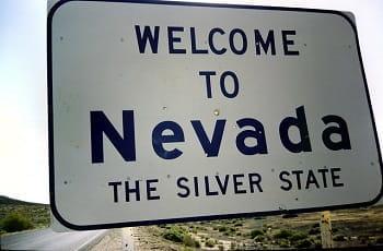 Ein Welcome to Nevada-Straßenschild.