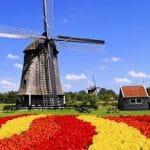 Eine Windmühle in Holland.