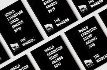 Die World Exhibition Stand Award-Umschläge.