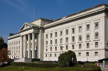 Das schweizerische Bundesgericht in Lausanne (Kanton Waadt).