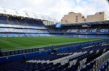 Ein Einblick das Chelsea-Stadion Stamford Bridge.