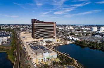 Das neue Encore Resort in Boston während der Baumaßnahmen.