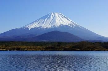 Der Vulkan Fujiyama.