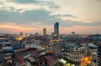 Ein Blick auf die kambodschanische Hauptstadt Phnom Penh.
