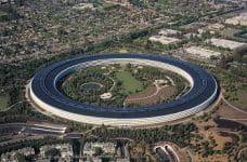 Ein Blick auf den Apple-Park im Silicon Valley, USA.