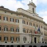 Das römische Parlamentsgebäude in Italien.