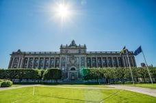 Ein Blick auf das schwedische Parlament in Stockholm.