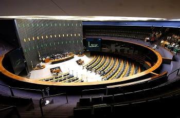 Ein Einblick in die brasilianische Abgeordnetenkammer.