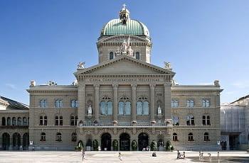 Das schweizerische Bundehaus in Bern.