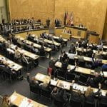 Ein Einblick in den Düsseldorfer Landtag.