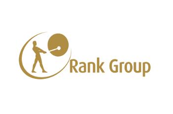 Das Logo des britischen Glücksspielkonzerns Rank Group.