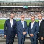 Die Führungsriege der Spielbank Berlin im Olympiastadion.