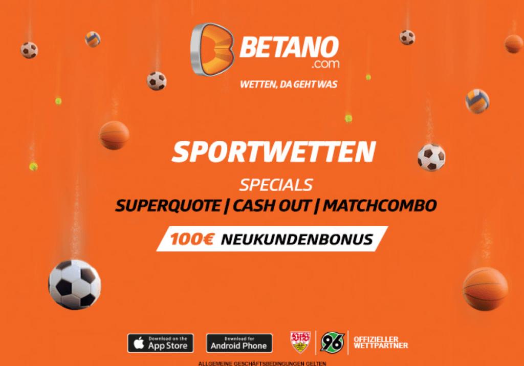 Homepage von Betano
