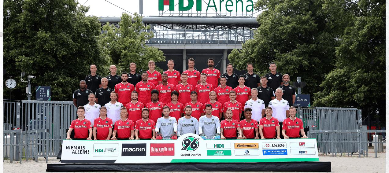 Mannschaftsfoto von Hannover 96.