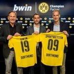 Der BVB präsentiert seinen Wettpartner Bwin.