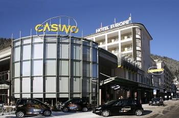 Das Casino Davos von außen.
