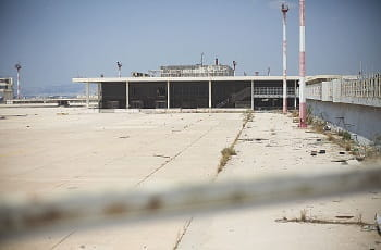 Der stillgelegte Hellinikon-Flughafen in Athen.