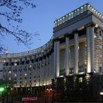 Das Kabinett der Minister in Kiew.
